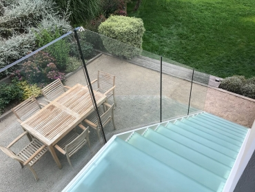 Stunning glass porch on barn conversion